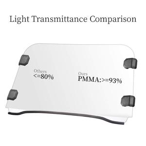 Image 3 - UTV Front Full Windshield Scratch Resistance Windscreen PC for Polaris RZR 570 Midsize 800 S 800 XP 900 & More Thick