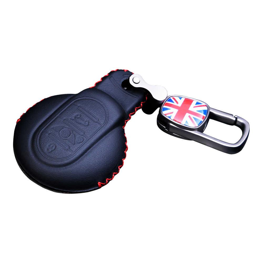 Araba uzaktan anahtar kılıfı için BMW MINI Cooper S F54 F55 F56 F57 F60 deri anahtarlık kumanda tutucu otomatik iç aksesuarları