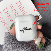 Custom name/logo/image Hard Plastic Case For AirPods for Bluetooth Wireless Airpod Cover DIY Customized Photo Letters Hot