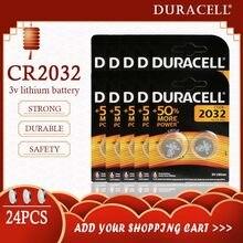 24 sztuk oryginalny DURACELL CR2032 DL2032 bateria telefonu guzik 3V baterie litowe do zegarka komputer kalkulator sterowania DL/CR 2032