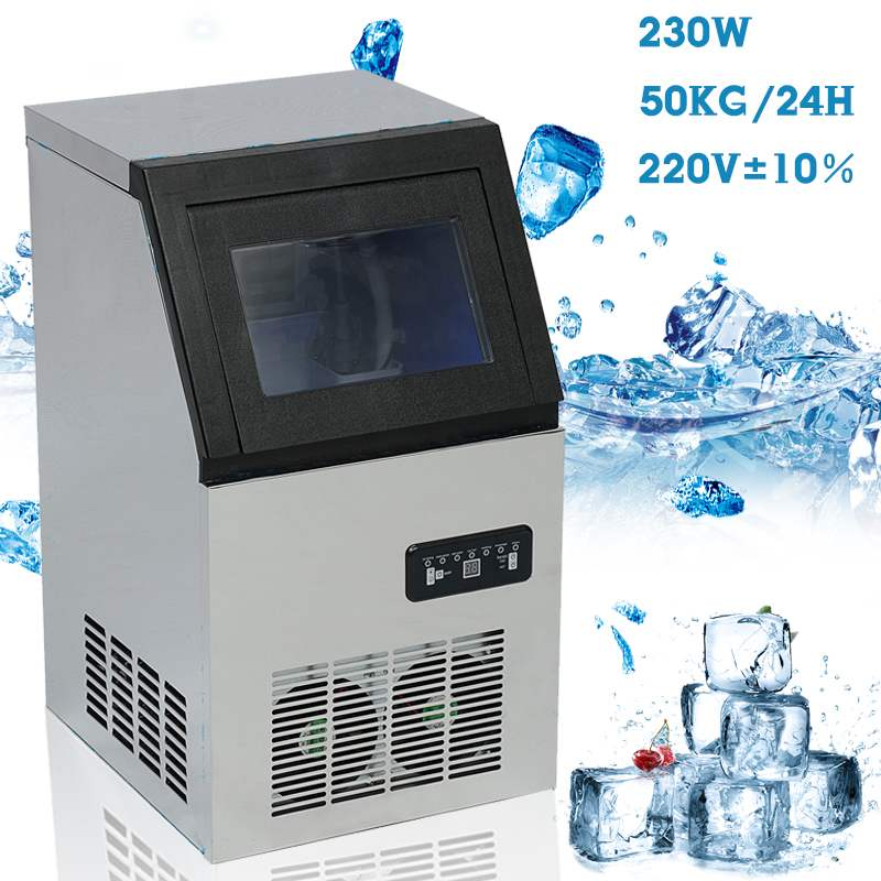 Efficient 50KG /24H 220V EU Plug Electric Automatic Cube Ice Maker Commercial Or Home Use Ice Making Machine 230W Ice Maker