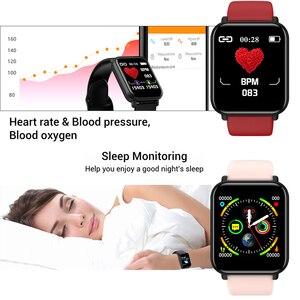 Image 3 - חכם שעון IP68 עמיד למים Smartwatch גברים ספורט קצב לב צג נשים כושר גשש שעון VS Pulseira B57 עבור אנדרואיד/ IOS
