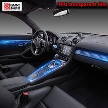Para porsche boxster 718 911 2016-2020car interior console central transparente tpu película protetora anti-scratch reparação filme reequipamento