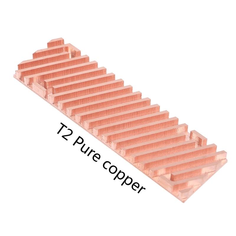 Ультратонкий радиатор из чистой меди, радиатор, радиатор SSD, термопрокладка для M.2 2280 PCI-E NVME 1,5/2/3/4 мм