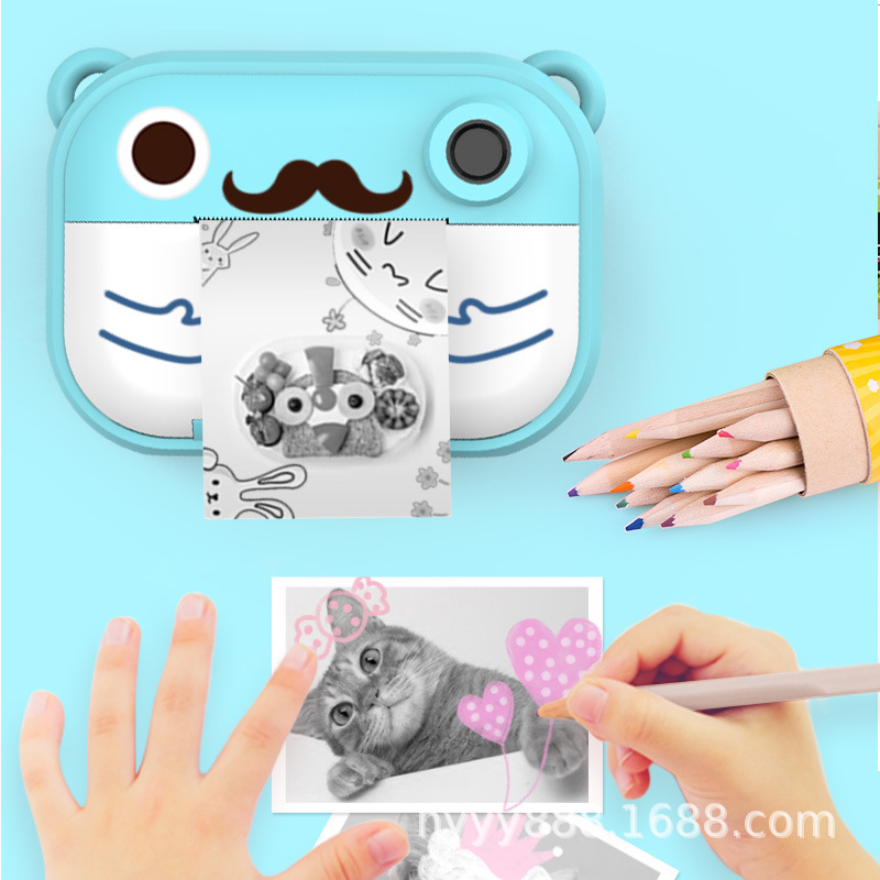 New Products Polaroid Children Camera Hot Selling Second Imaging Vertical Polaroid Children Gift