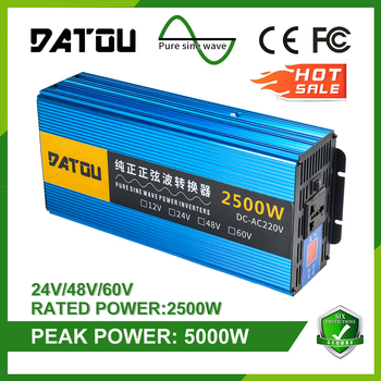 5000W Car Inverter 48v To 220v Voltage Converter Pure Sine Wave Charger Converter Power Adapter Transformer Rated 2500W 5000w pure sine wave car inverter 24v to 220v transformer car power inverter charger converter adapter auto parts rated 4000w