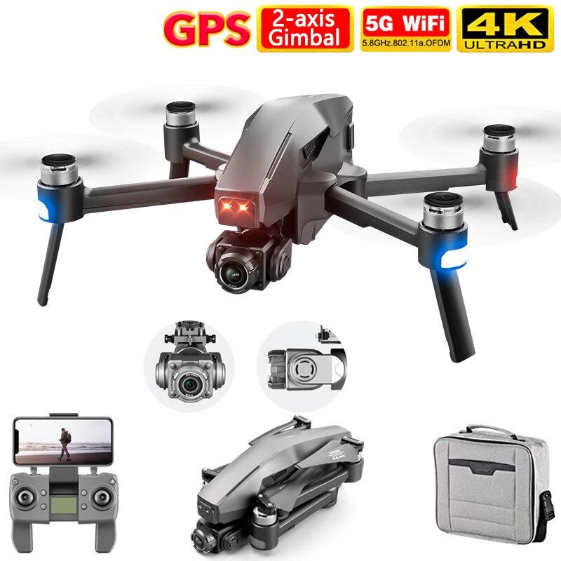 4drc 2021 m1 pro 2 zangão 4k hd mecânica câmera cardan de 2 eixos 5g wifi sistema gps suporta tf cartão drones distância 1.6km