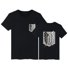 Attack on Titan t shirt Men anime plus size tees summer tops Women short sleeve tshirt cartoon streetwear t-shirt Teens clothes