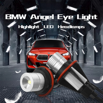LED Angel Eyes for BMW E39 E60 E53 X5 E83 X3 E61 E63 E64 E65 E66 E87 BMW LED Side Marker Light Bulb Canbus White Blue Red Yellow image