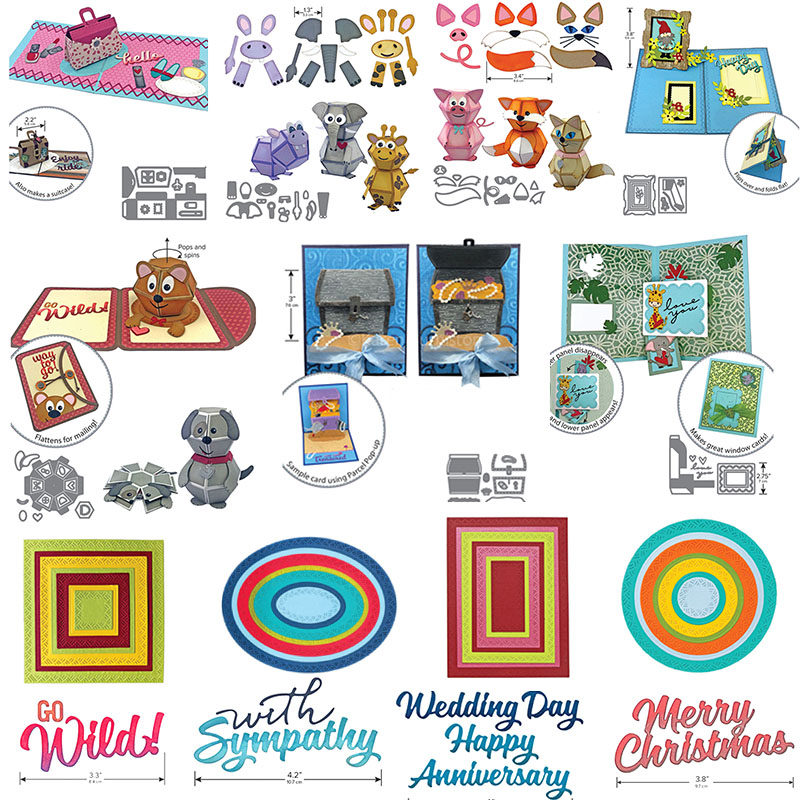 Kscraft Pop Up Window Card Metal Cutting Dies Stencils For Diy Scrapbooking Photo Album Decorative Embossing Diy Paper Cards Cutting Dies Aliexpress