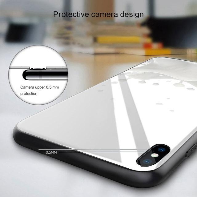 mleko ser Silicone Glass Phone Case For Xiaomi Redmi 9A 8A 7A Note 9 8 7 Pro Y3 9S 8T Balck Cover 6