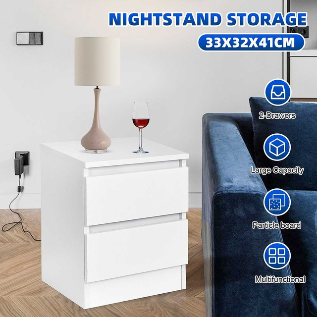 Nightstand w/ Two Drawers 1