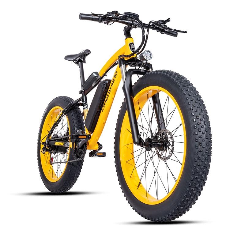 Elektrisches Fahrrad Bafang Motor 500W Beach Hilfsrad Rover elektrisches Fahrrad 48V17A Lithium ele t ebike Elektro -Strandauto 26 Zoll Elektro -Schneemobil Fettreifen Elektrofahrzeug