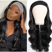 Perruque bandeau synthétique sans colle pour femmes noires, cheveux longs ondulés, 20-30 pouces