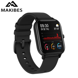 Makibes P8 Smart Watch 2020 Full Touch Fitness Tracker Blood Pressure Smartband Clock Wearable Devices for GTS Multi-language