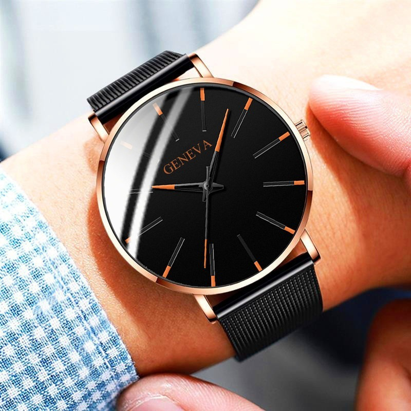 Relogio Masculino Simple Women Men Watches Stainless Steel Mesh Quartz Wristwatches Fashion Clock Ladies Watch Montre Femme 2019