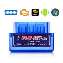 Новый OBD V2.1 V1.5 мини ELM327 OBD2 Bluetooth автоматический сканер OBDII 2 Автомобильный вяз 327 Тестер инструмент диагностики для Android Windows Symbian
