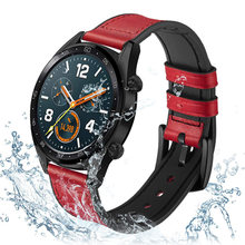 Ремешок для часов huawei watch gt силиконовый и кожаный браслет