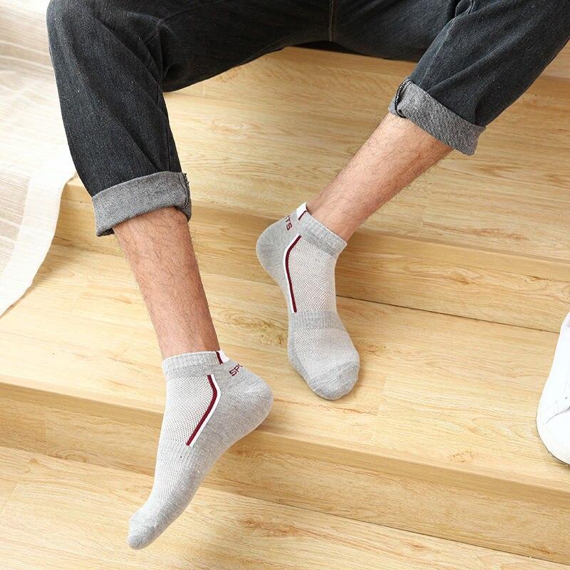 Lot de 10 chaussettes sockets de sport en coton pour homme