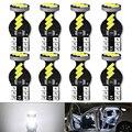 8 шт T10 led W5W светодиодные лампы салона автомобиля светильник 4014 9SMD белый 12V для Mazda 3 6 CX-5 323 5 2 CX5 Peugeot 307 206 308 407 207 400