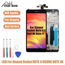 AAAA Qualidade LCD Para Xiaomi Redmi Nota 4 PINZHENG 4X Display LCD Substituição Da Tela Para Helio X20 Snapdragon 625 MTK exibição