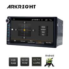 "ARKRIGHT 7 ""2 + 32GB Android 8.1 Auto Radio Audio Stereo GPS navis Wifi auto Multimedia Speler Carplay /android auto/auto recorder 4G"