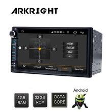 """ARKRIGHT 7 """"2 + 32GB Android 8.1 samochodu Radio Audio Stereo GPS navis Wifi samochód odtwarzacz multimedialny Carplay/ android auto/Kamera samochodowa 4G"""