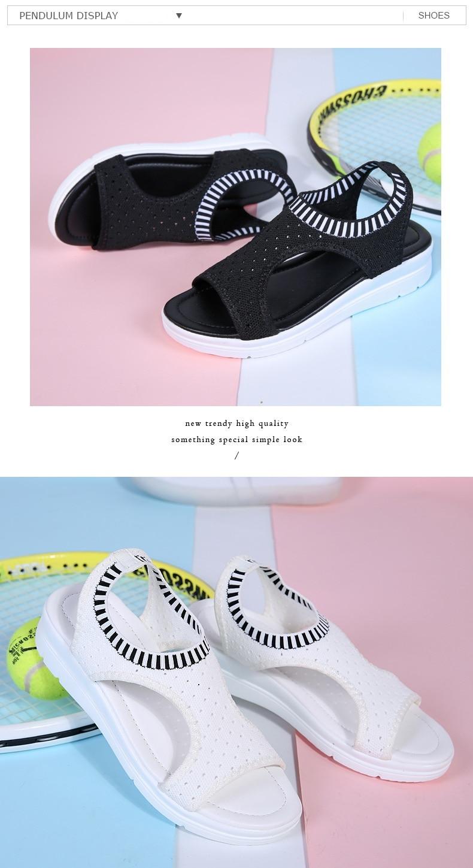 Hac3fc2ba726a4e0f8df4814950f8d0f0B WDZKN 2019 Sandals Women Summer Shoes Peep Toe Casual Flat Sandals Ladies Breathable Air Mesh Women Platform Sandals Sandalias