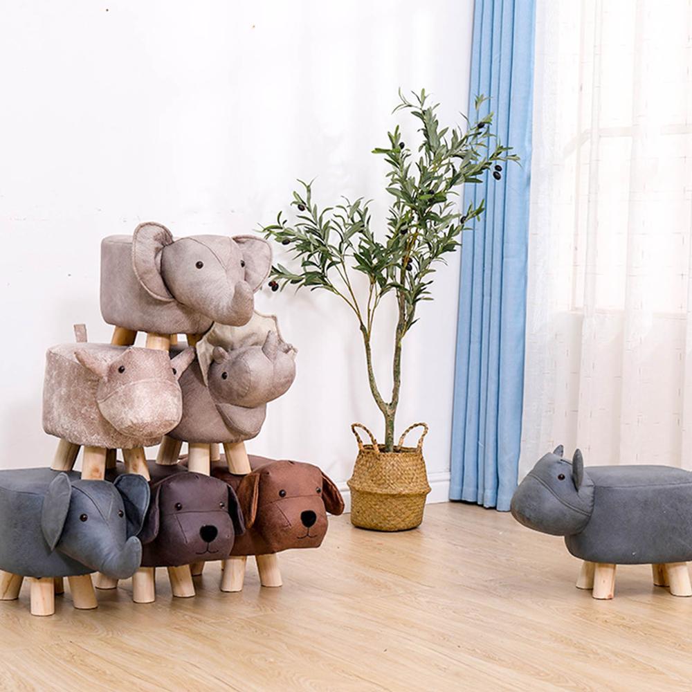 Animal Kids/Nursery Ride-On Sofa Stool Elephant/Puppy/Elk/Dinosaur/Bull Home Kids Bedroom Furniture Decor