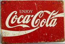 Desfrutar Coke Lata Rústico Cola Cartazes Retro Sinal do Metal Da Lata do Metal Do Vintage Sinais de Estanho Para Home Bar Pub Clube Man Cave Decoração Da Parede