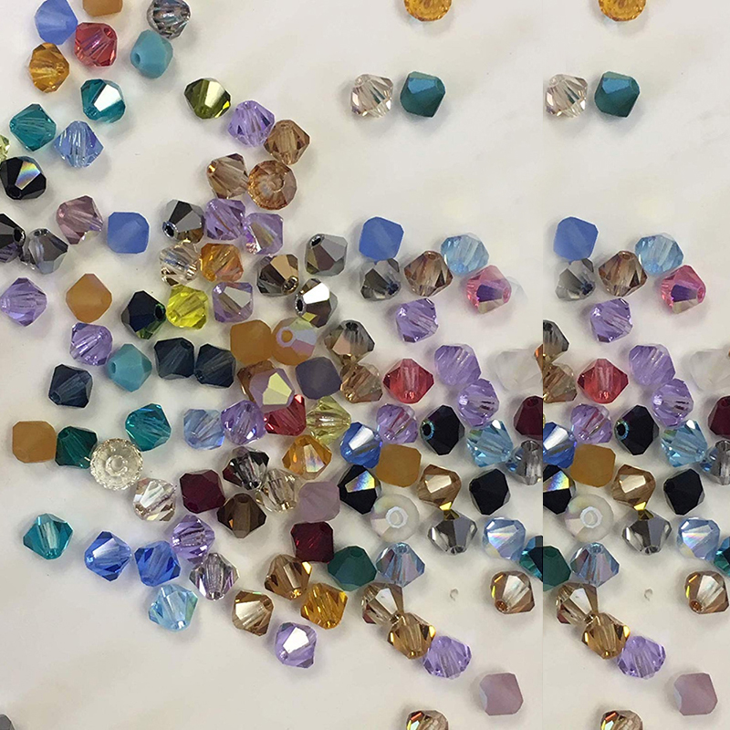 4mm 100pcs//lot Crystal Beads Bicone Shape Stone Jewelry bracelet making Finding