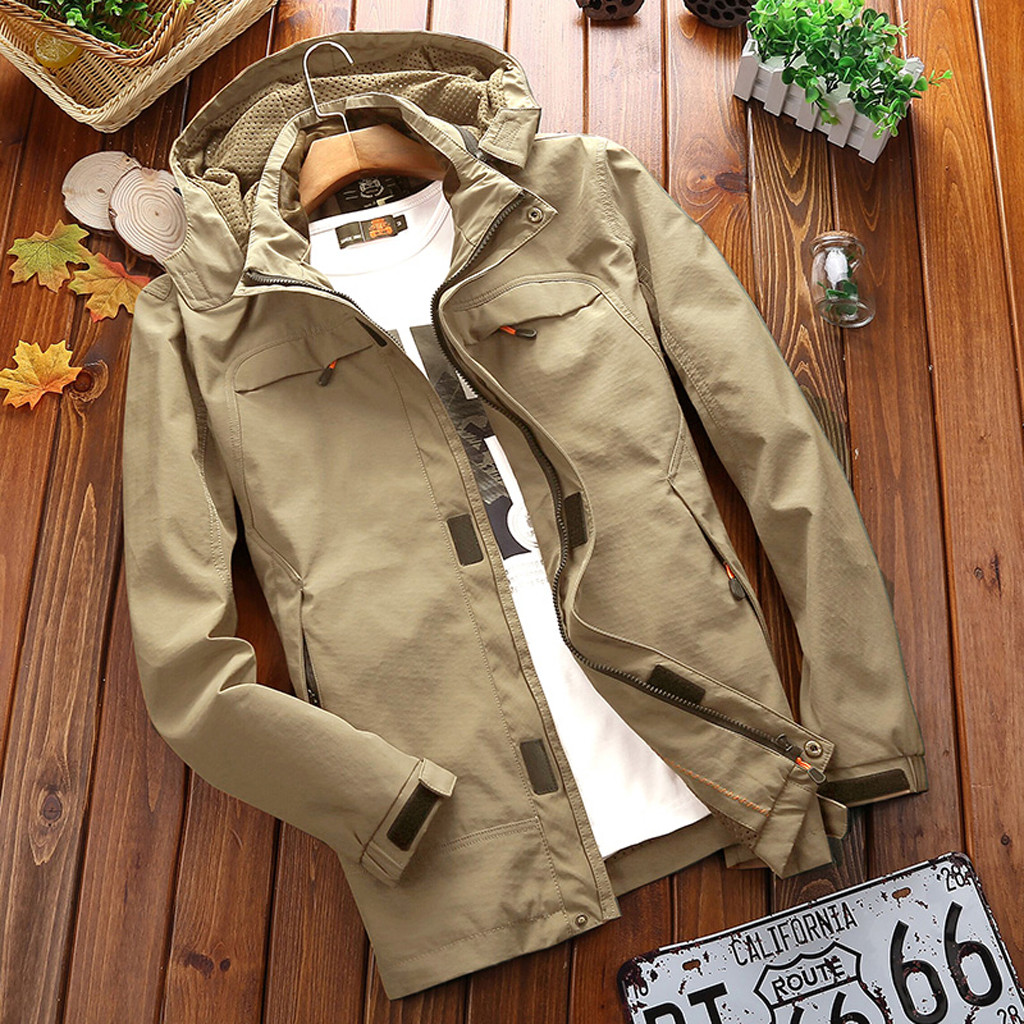 Mode automne hiver vêtements hommes coupe-vent imperméable veste randonnée en plein air Sport veste manteau Softshell veste hommes Corta Vento
