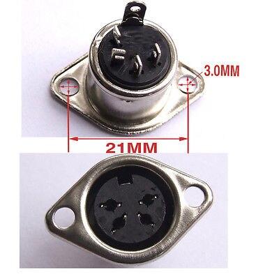 DHL/EMS  250 PCS 4 PIN DIN Female Socket Panel Mount Connectors-A8