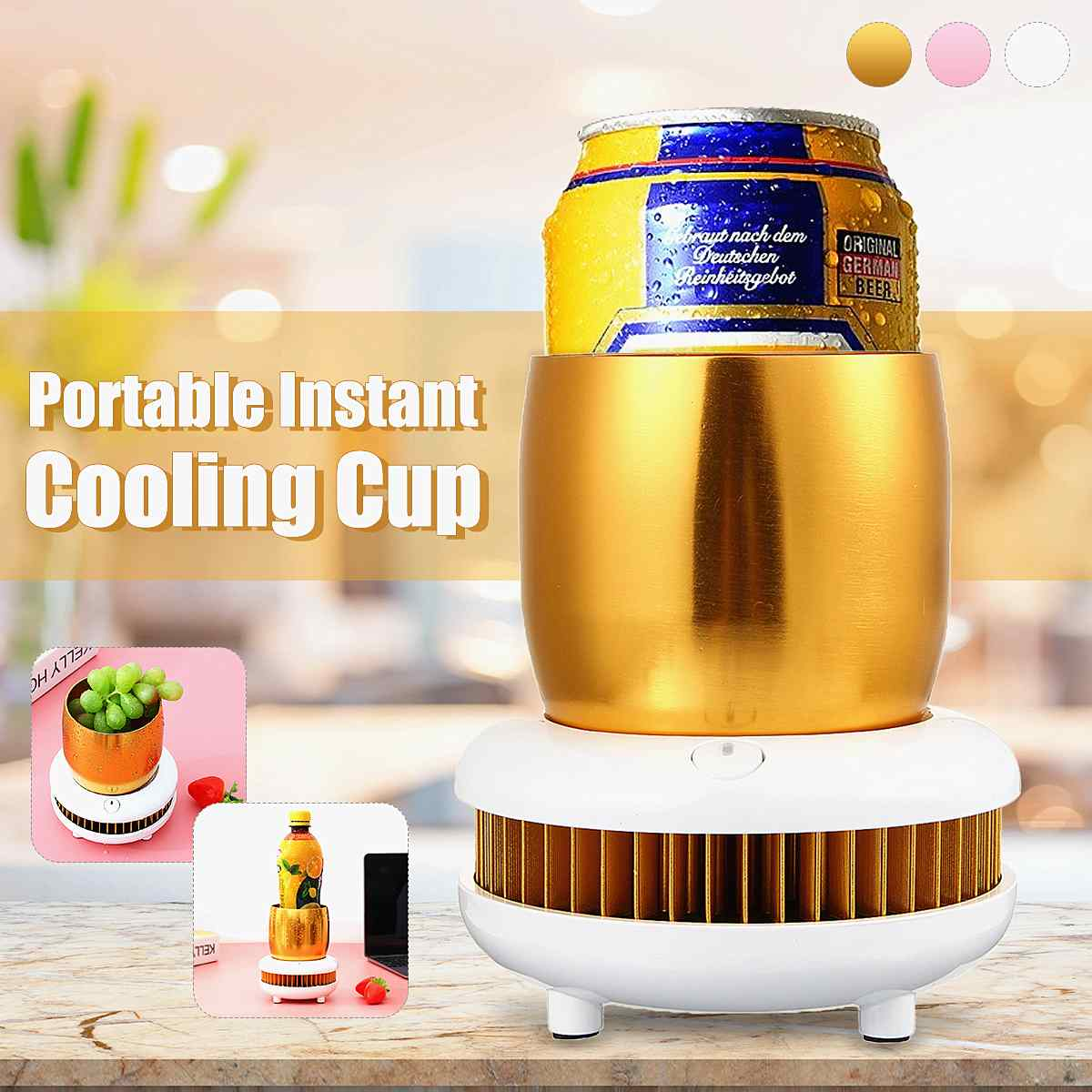 Eletric Car Home Cooling Cup Freezer Desktop Cooler Household Office Dormitorio Cans Beer Wine Ice Drink Cooler