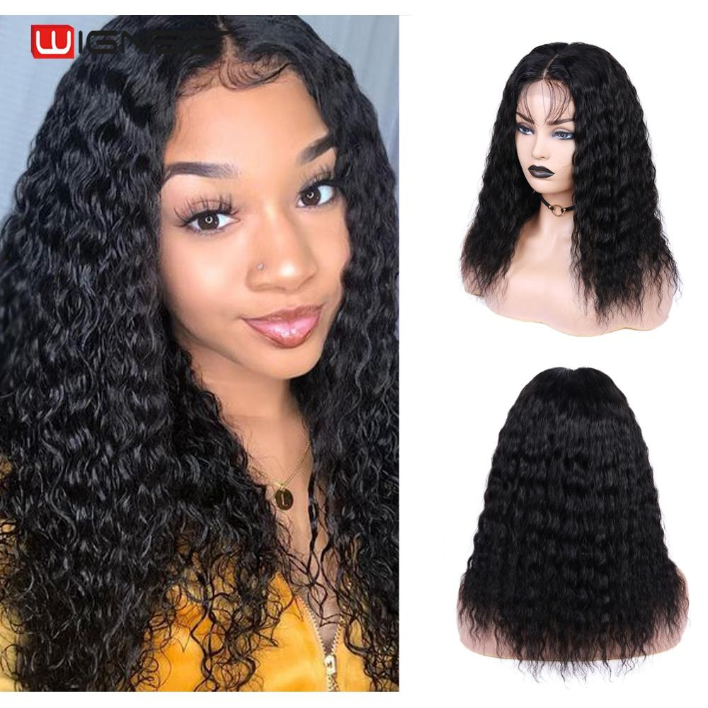 Wignee 4*4 Lace Closure Curly Human Hair Wigs With Baby Hair For Black Women Remy Hair Pre Plucked Swiss Lace Cheap Human Wigs