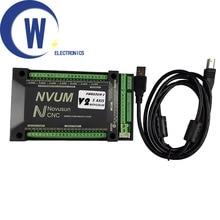 Mach3 USB Card 200KHz NVUM 3 axis / 4 axis / 5 axis / 6 axis CNC motion controller Slave funct for Stepper,Servo motor