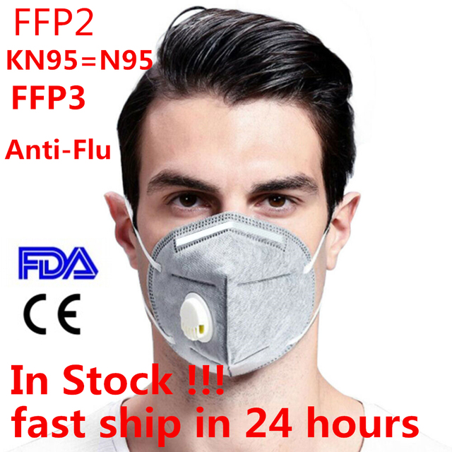 10/5 pcs N95 Respirator Mask Face Protection Reusable Breathable Anti Dust Anti-Flu 5 Layer KN95 Masks Pk KF94 FFP3 In stock!!