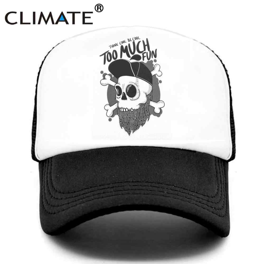 Iklim Hip-hop kamyon şoförü şapkası gençlik komik iskelet kaba kap Hip Hop Hiphop sokak kültürü kap serin kafatasları yaz file şapka