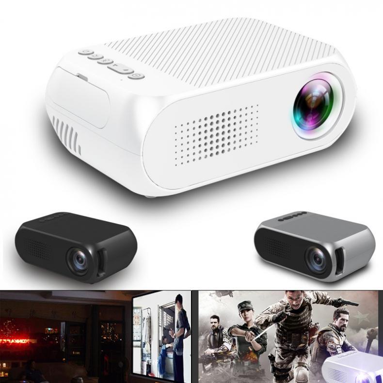 YG320 HD 80 pouces Portable Mini projecteur de poche LED adapté pour Sony PS4 et Xbox