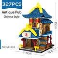 SEMBO Architektur Street View Bausteine kinder Spielzeug Chinesischen Traditionellen Speicher Alte Montage Ziegel Geschenk für Kinder