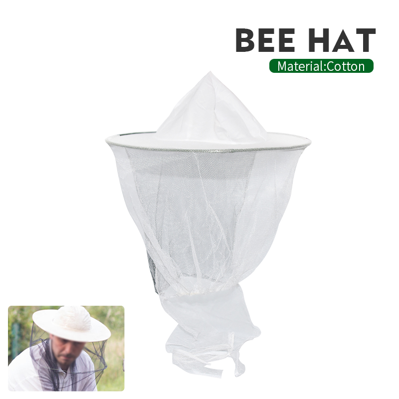 Beekeeping Hat Mosquito Bees Insect Net Prevention Veil Mesh Caps Head Cover Sunshade Neck Wrap Mask Outdoor Protector Bee Tools