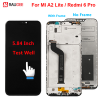 Xiaomi MI A2 Lite LCD 디스플레이 + 터치 스크린 Xiaomi Redmi 6 Pro 디스플레이 용 새로운 디지타이저 어셈블리 교체 스크린