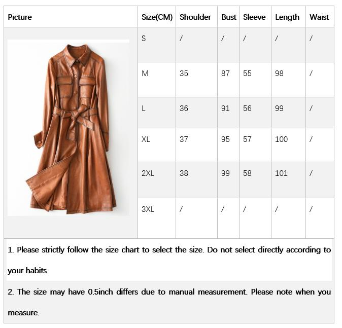 Leather Coats For Women Size Guide