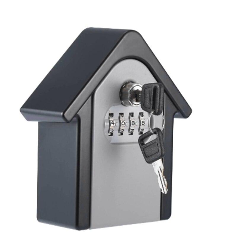 Новый ящик с ключами замок Сейф с ключом наружное настенное крепление комбинация блокировки паролей скрытые ключи коробка для хранения сейфы для домашнего офиса