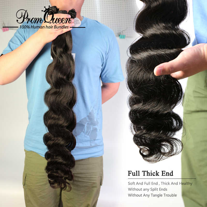 Prom kraliçe Remy saç brezilyalı İnsan saç vücut dalga 1/3/4 demetleri çift makine atkı insan saçı örgüsü ücretsiz kargo