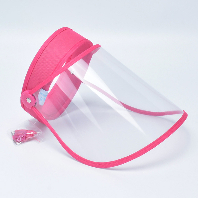 Full Face Anti-Dust Hat Cap Saliva Prevention Clear Visor Mouth Mask Face Shield With Transparent Protective Cover Women Men 3