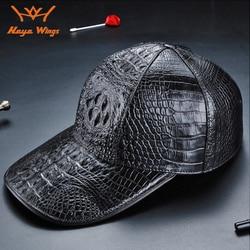 Luxury handmade cap genuine Crocodile leather fashionable men's Golf cap