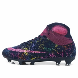 Professional Men Football Boots Top Quality High TF Ankle Indoor Soccer Shoes Training Football Shoes Superfly Original