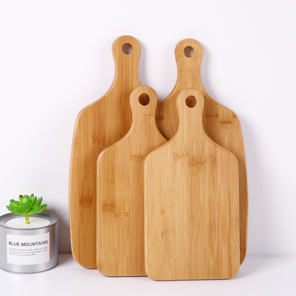 Wholesale Custom Portable Kitchen Eco Friendly Bamboo Cutting Board For Pizza Sushi