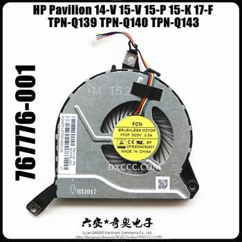 Wentylator do laptopa HP Pavilion 14-V 14-V028TX 15-V 15-P 15-K 17-F TPN-Q139 TPN-Q140 TPN-Q143 wentylator chłodzący CPU 767712-001 767776-001 tanie i dobre opinie NoEnName_Null CN (pochodzenie) Procesor 2 5 W Fluid Łożyska 4 Linie 4PIN Z tworzywa sztucznego 70x70x15mm